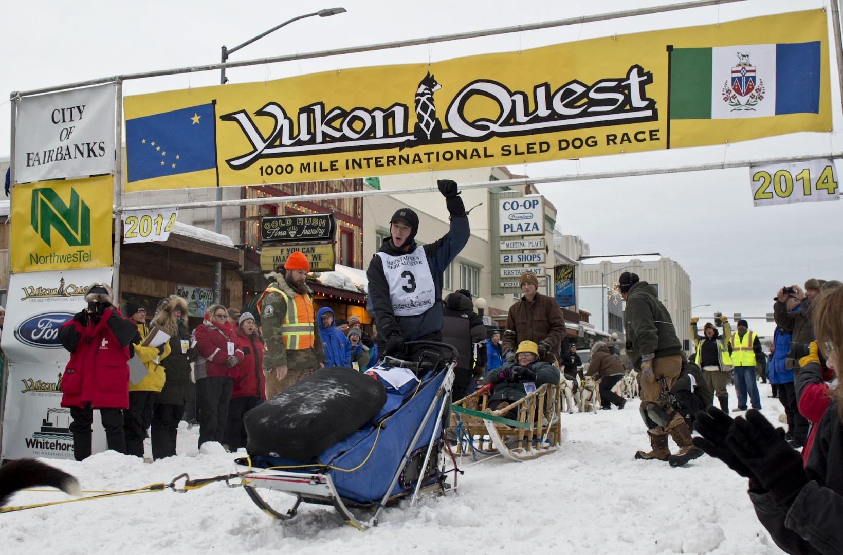 Matt Hall Yukon Quest Dog Sled Race