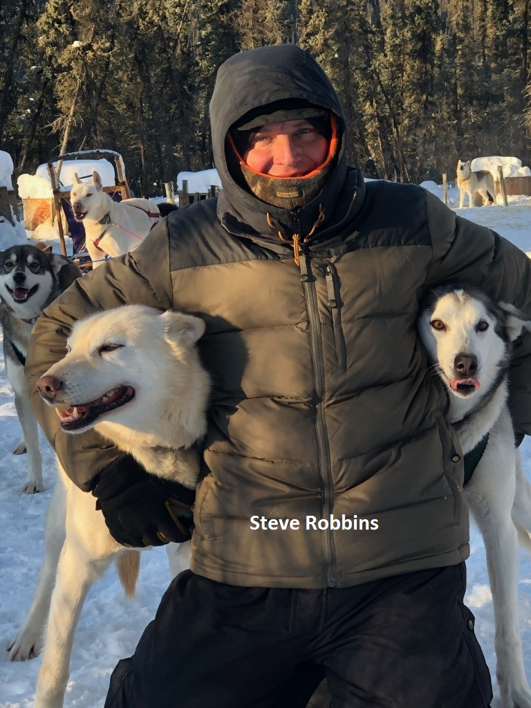 Steve Robbine sled dog guide Eagle, Alaska, Yukon