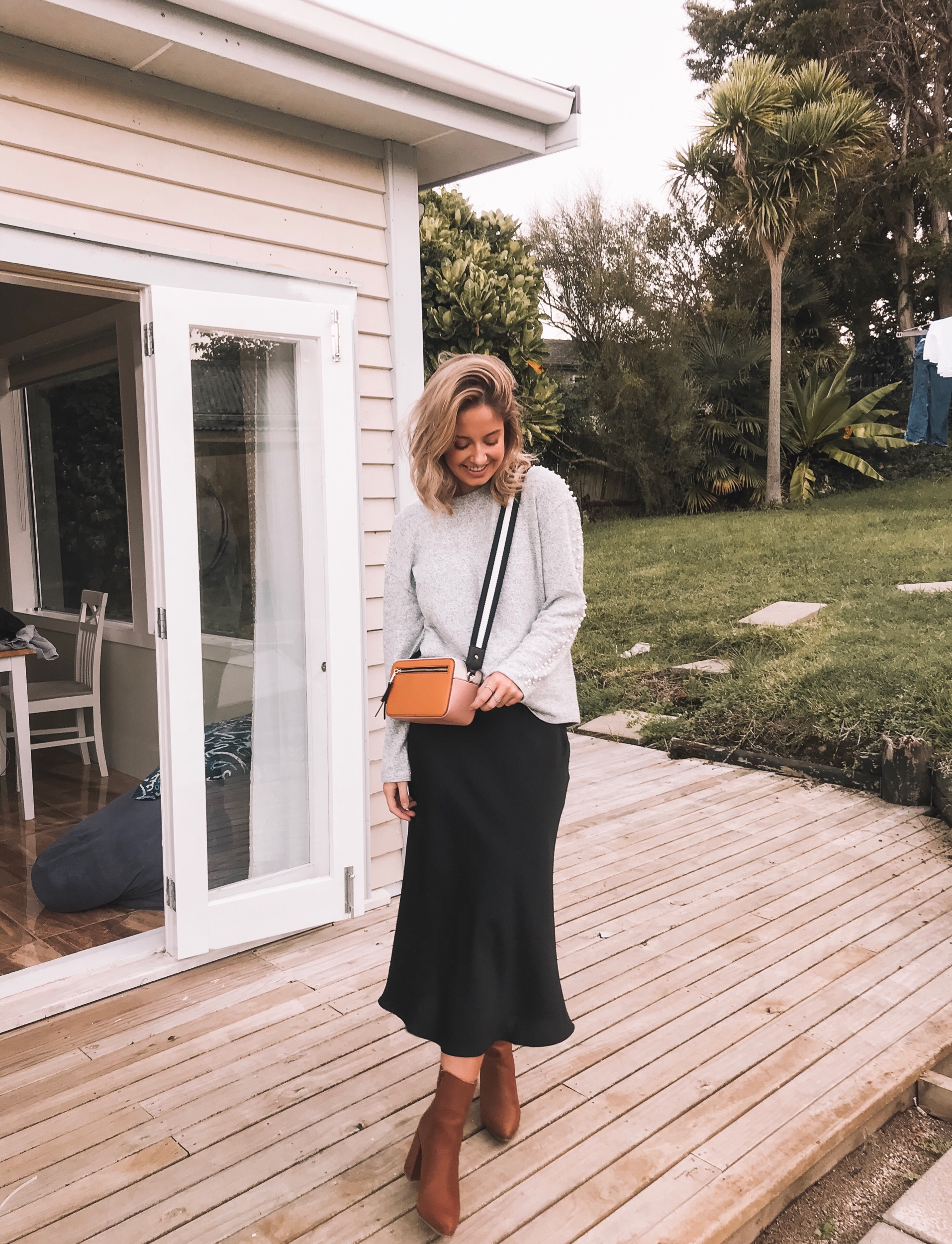 MAXI MAXI - Adding length to your skirt choices should be an obvious one, and with bias cut skirts taking over the world it's never been easier!! If you wanted to be super cozy, pop a pair of sheer tights underneath to stop the fresh air biting at your ankles.