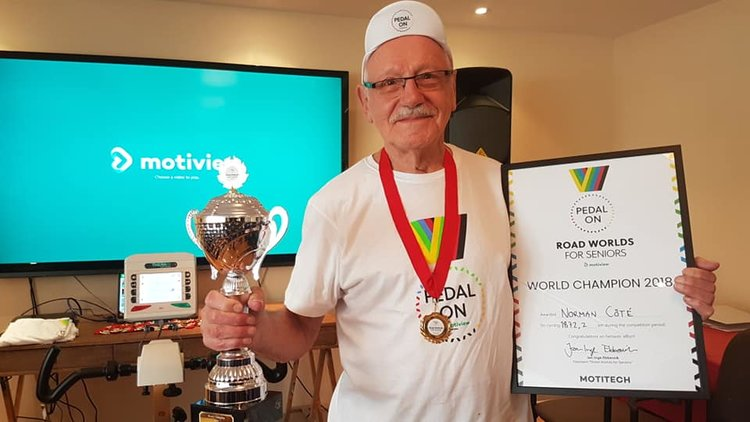 2018 Road Worlds For Seniors International Champion Norman Côté Wins Bruyère Village Intramurals Cycling -