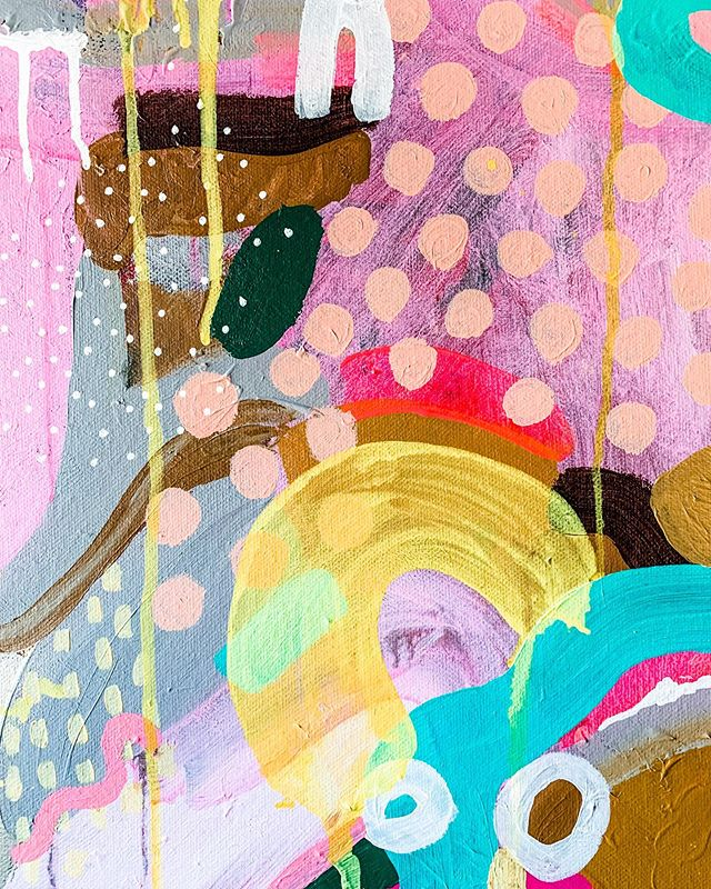 Detail of a new painting I'm currently working on. 🌈  #surreyartist #artist #abstract_art #abstractartorg #colour #happy #love #womenwhopaint #createsomethingeveryday #painting #positivenergy #tastetherainbow #contemporaryart #modernartwork #art