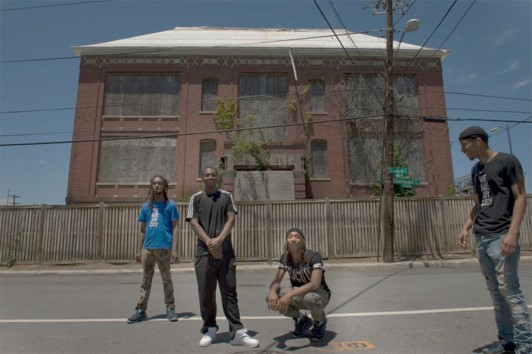 """from   The Washington Post   :  """" Tony Crews, left, Antwan Williams, Burke 'YB' Davis, and Willis Little stand in front of the closed Crummell School, in 2016. The Ivy City residents want to transform the shuttered school into a community center surrounded by a playground, basketball court and other public resources. But the city favors a plan from developers who would create a community center in the school but develop the surroundings into mixed-rate housing, industrial space and possibly an 'urban farm.' (Nikki Kahn/The Washington Post) """""""