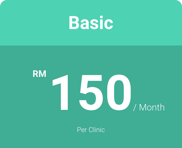 BASIC PLAN - Cloud-based CMSBusiness IntelligenceTop class supportRegular feature updates & improvementsGroup clinic management featuresBilling, accounting, inventory & reports