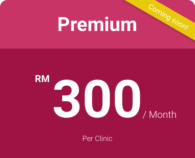 PREMIUM PLAN - Cloud-based CMSBusiness IntelligenceTop class supportRegular feature updates & improvementsGroup clinic management featuresBilling, accounting, inventory & reportsConsolidated ReportingPatient Outreach - SMS featureClinic Dashboard