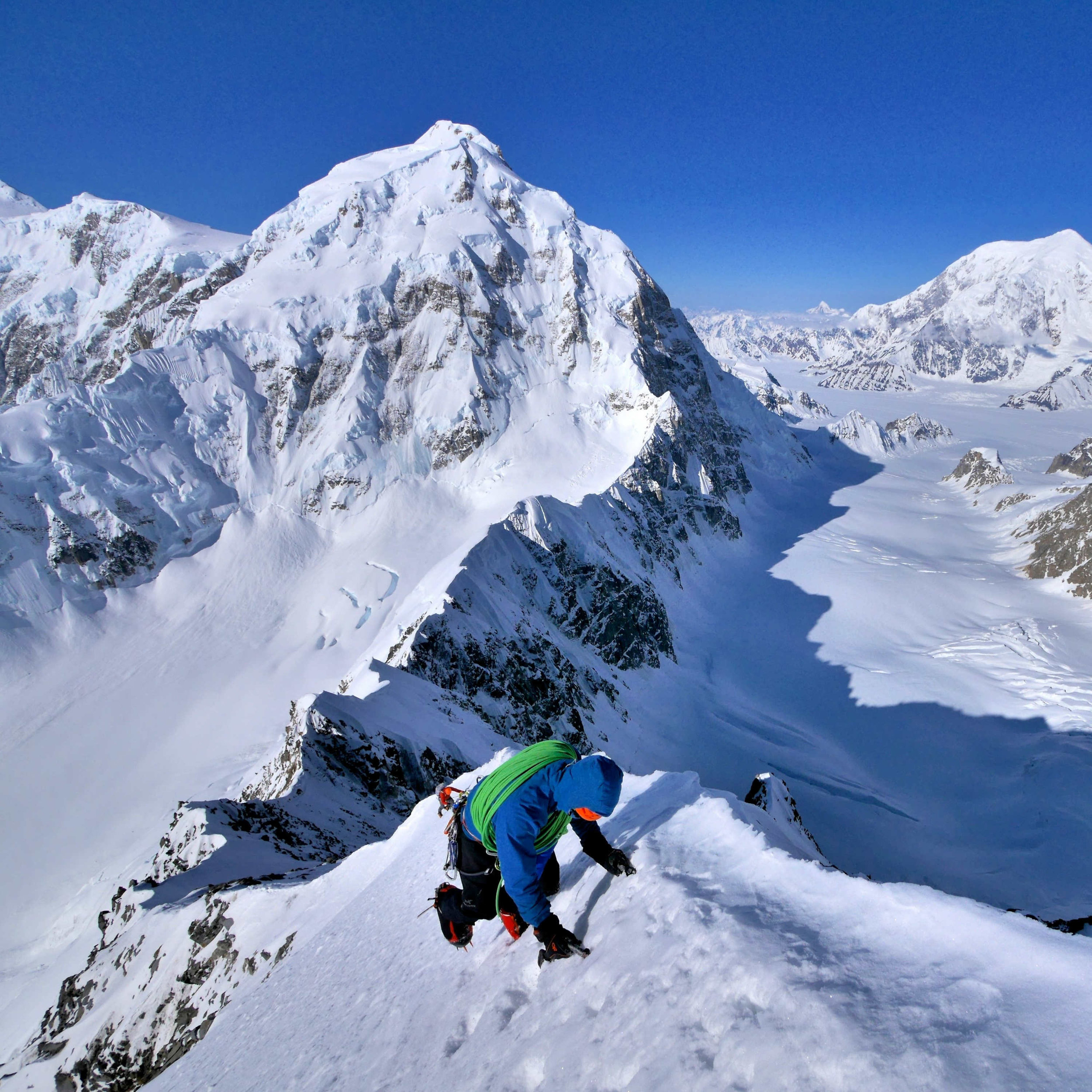 Climbing Kahiltna Queen Alaska with Hunter and Foraker behind.jpg