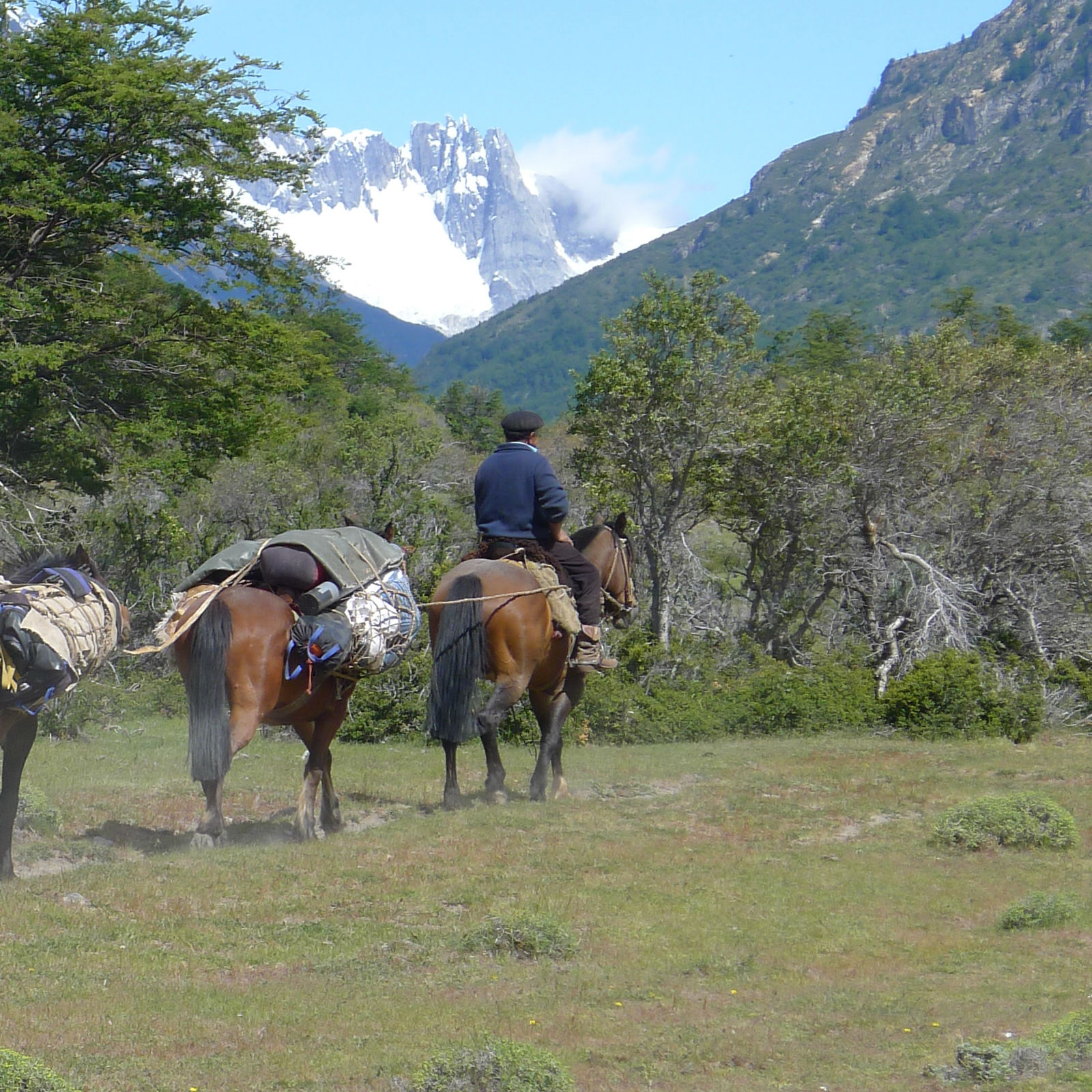 Louis leads the pack with our 1st glimpse of the South Avellano tower Patagonia.jpg