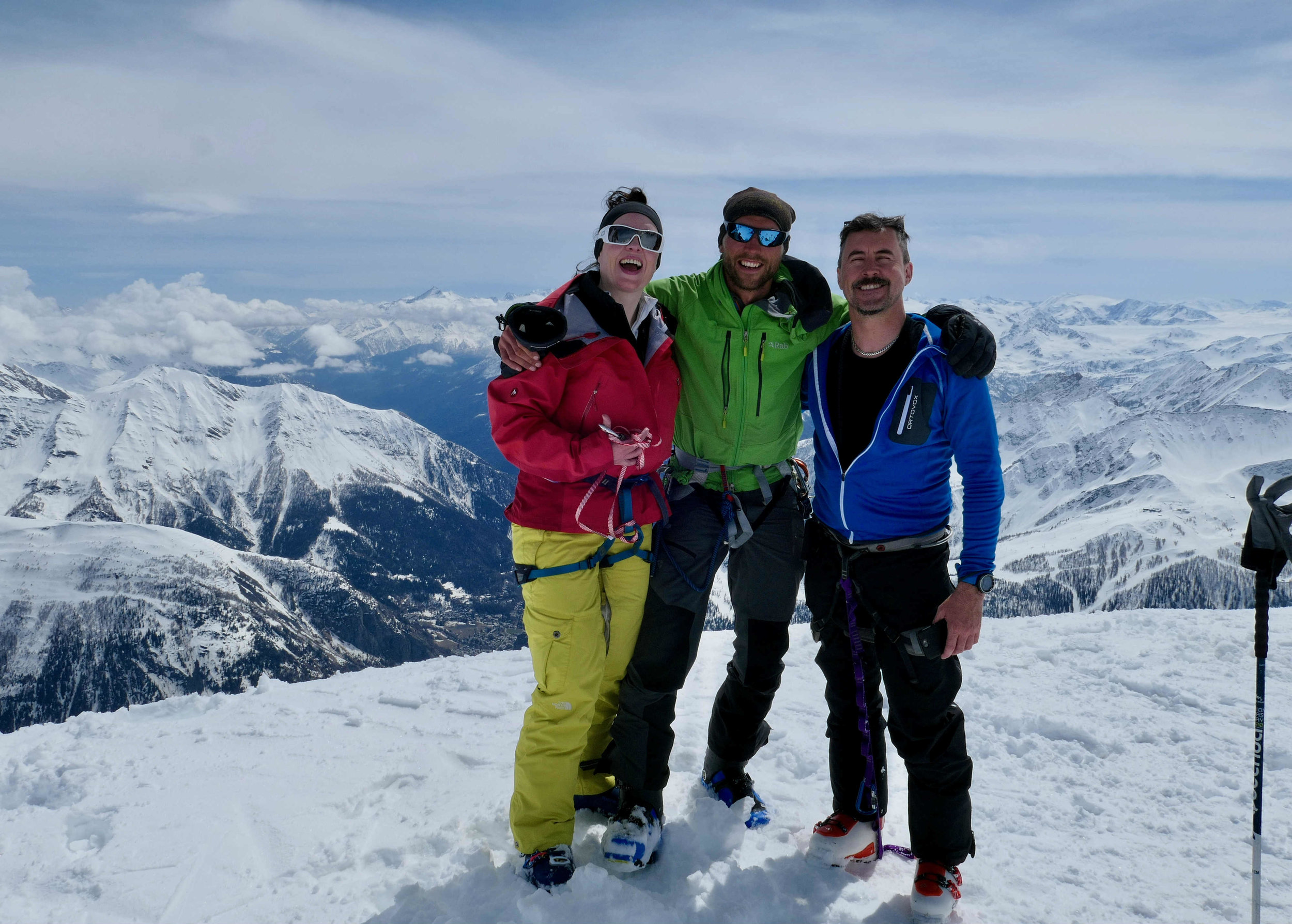 Happy tourers on the Italian side of Mont Blanc .jpg