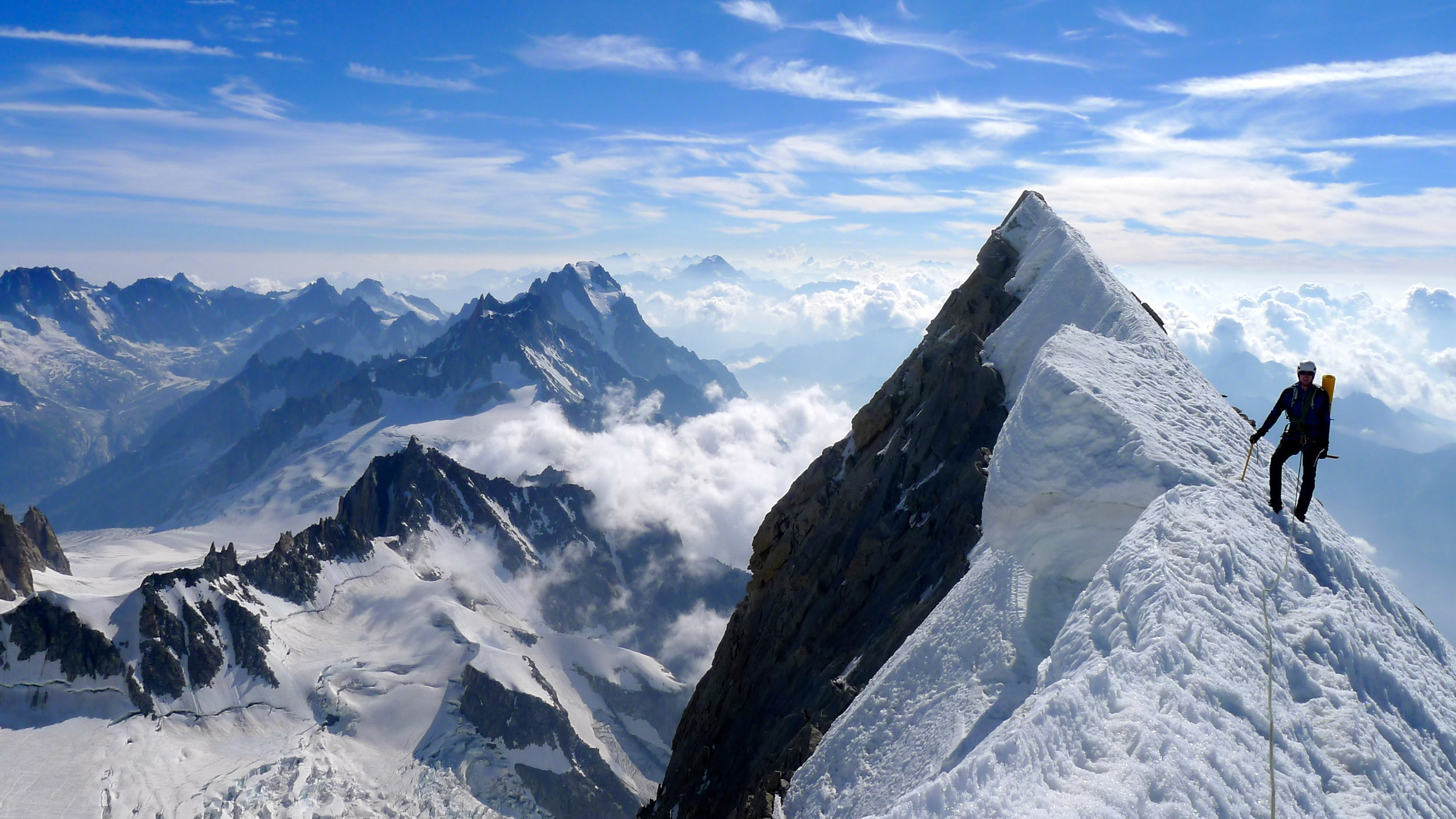 Matthew Pigden on the Peuteray Integrale, Mont Blanc. Day 4