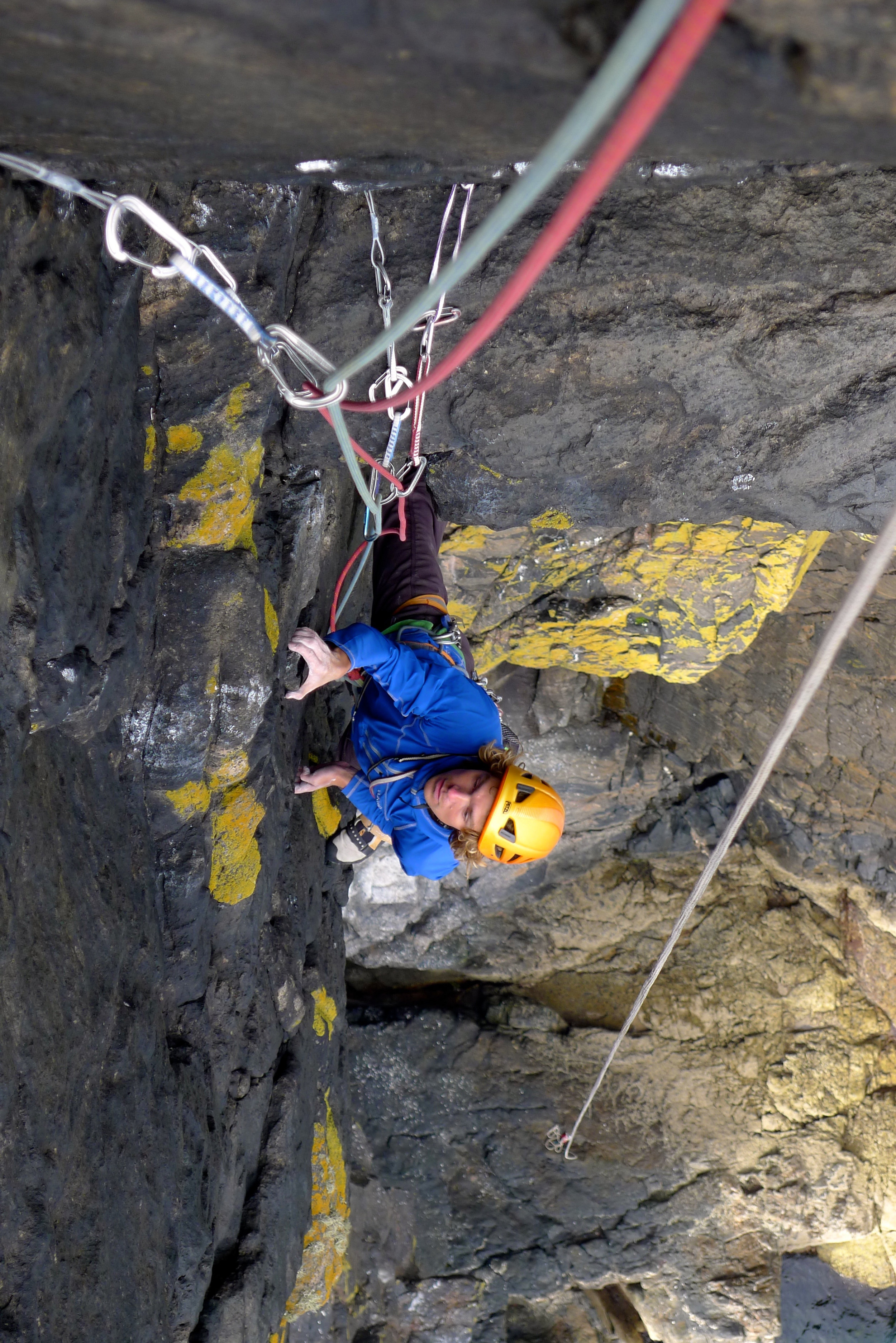 Andy Reeve enjoys an incredible pitch on Pabbay in the Scottish Isles