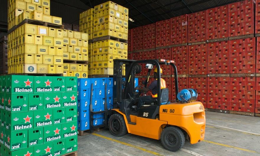 Heineken's Nigerian distribution centre. Photograph: Maarten Udema/Heineken