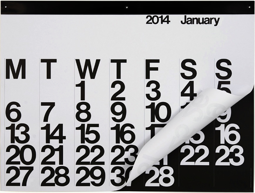 The Stendig Calendar by Massimo Vignelli, 1966.