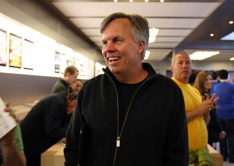 Ron Johnson attends the release of the iPad at an Apple store in New York on April 3, 2010.  Photographer: Jin Lee/Bloomberg