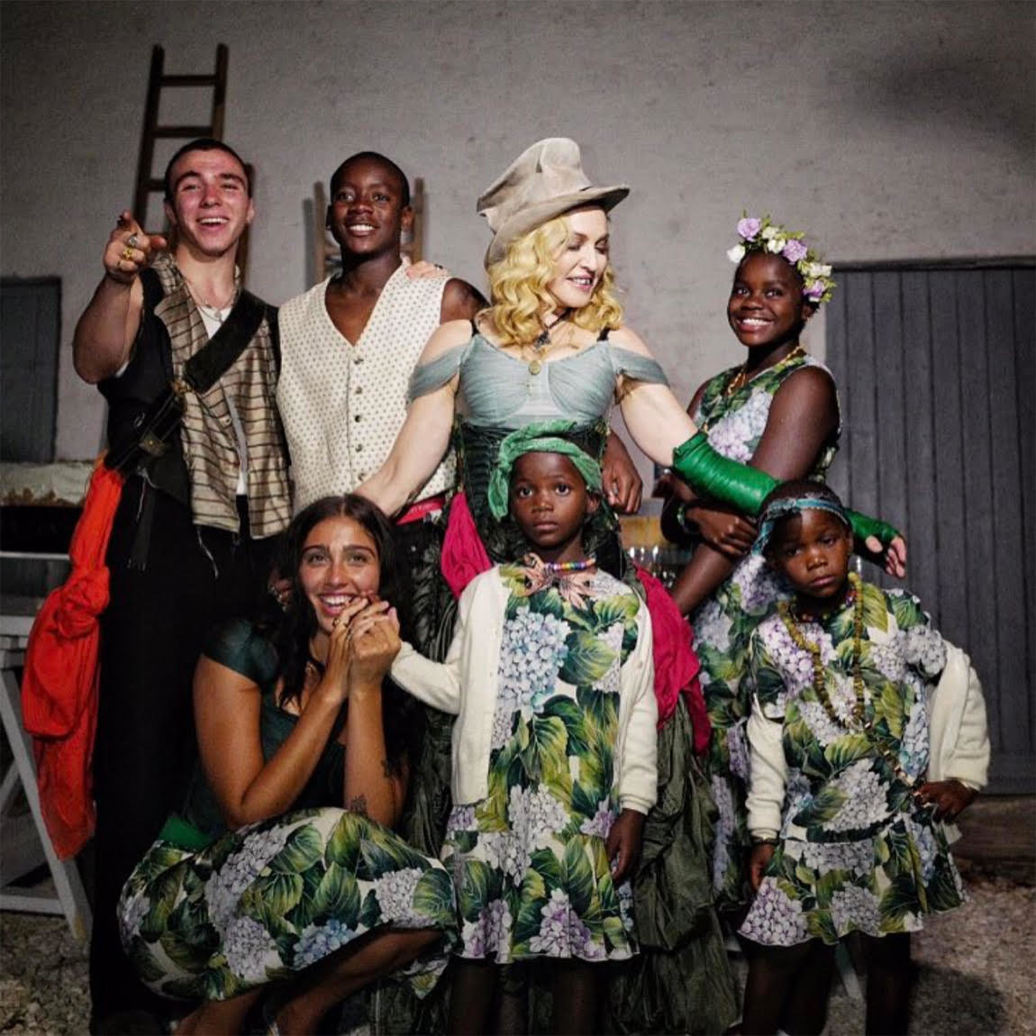Madonna and her six children.Creditvia Instagram