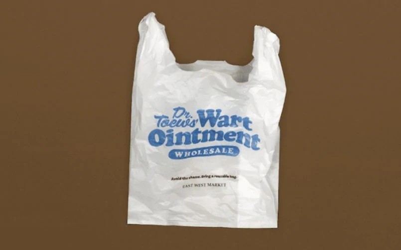 Customers will be charged five cents per 'embarrassing' plastic bag they take .