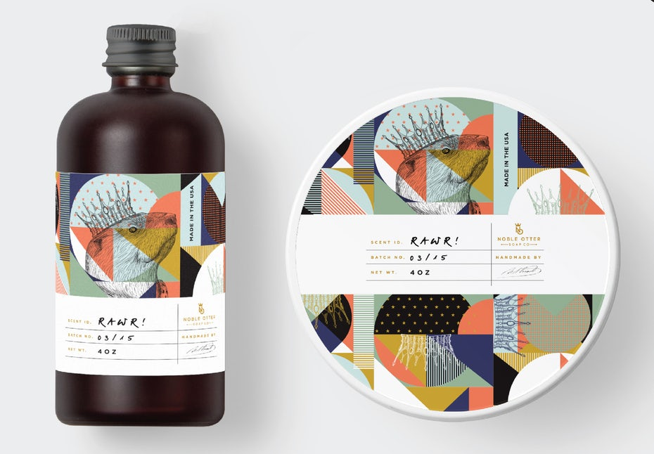 Packaging design by    Mad pepper   . This is an exceptional example for a designer embracing both intricate details and friendly geometrics!