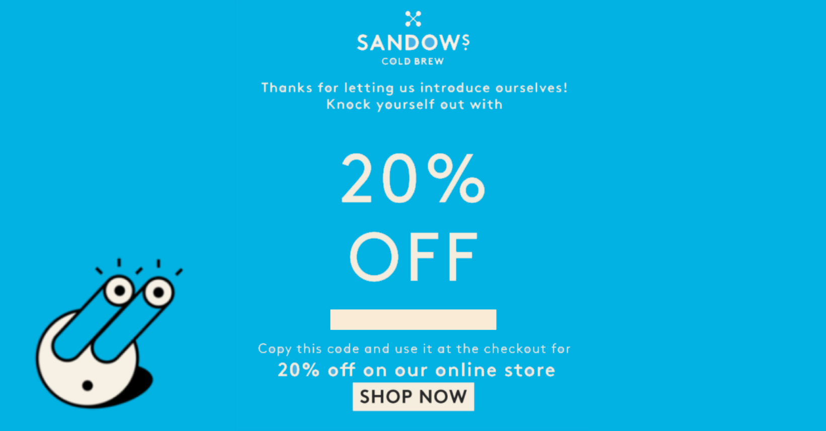 Get a taste of Sandows with 20% off — find the code at the end!