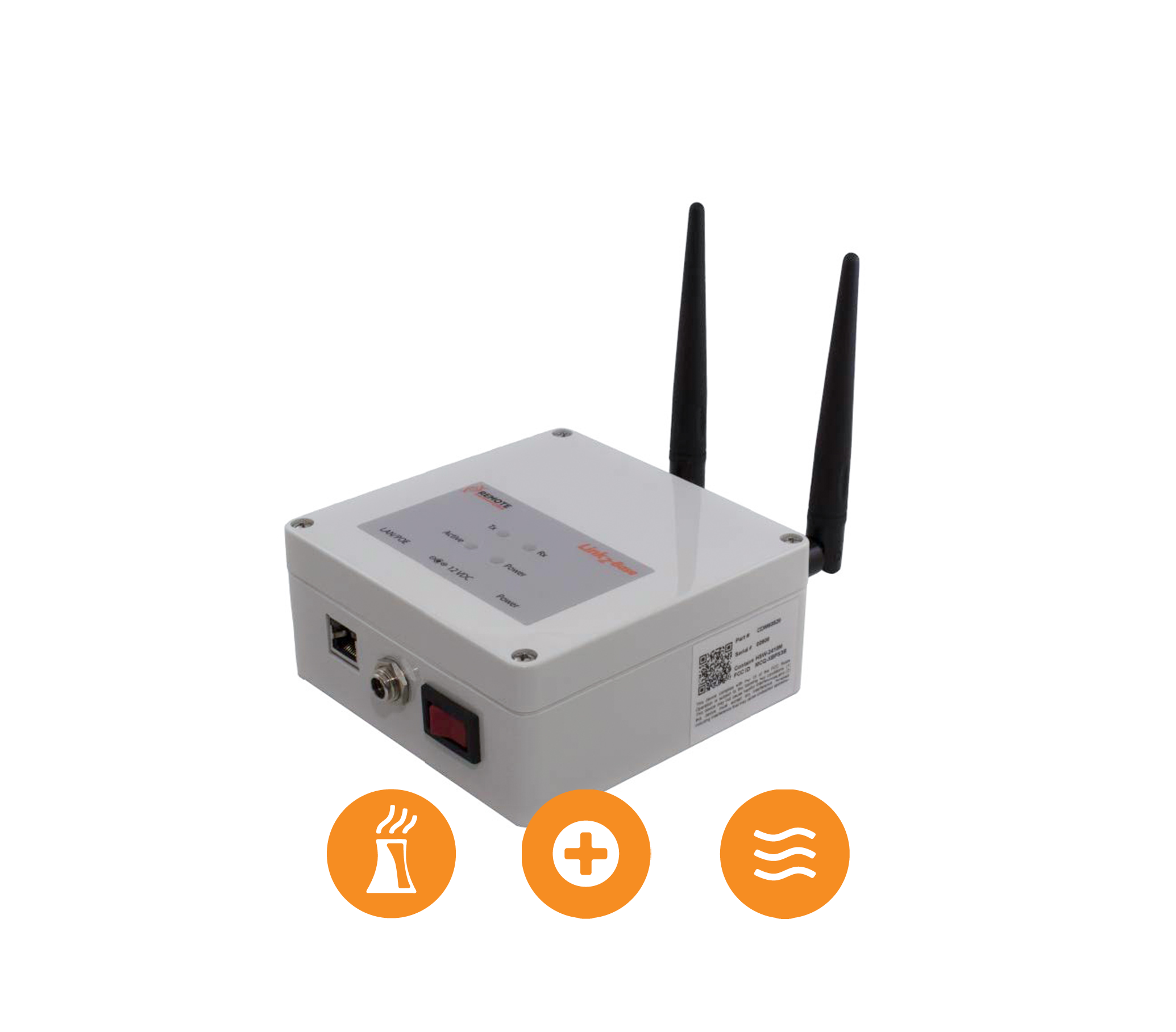 Link2-Base - The Link2-Base is a wireless base radio that combines an RF transceiver with an Ethernet/LAN connection to give IP networking capabilities to in-field wireless devices, sensors and…