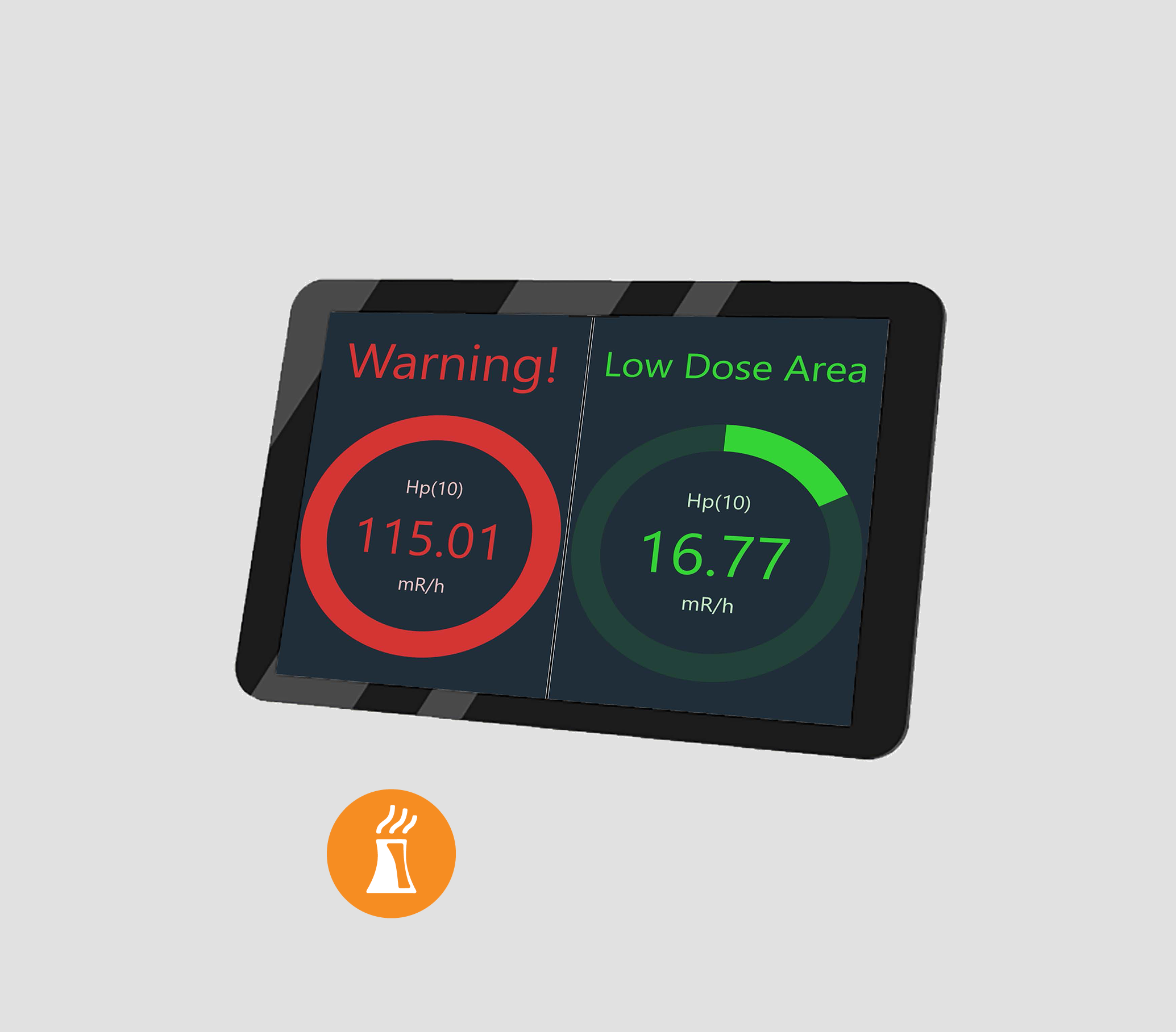 LINK2-Display RD-7 - The Link2-Display RD-7 is a standalone Radiation Display (RD) able to display instrument dose readings from connected and wireless dosimeters and area monitors…