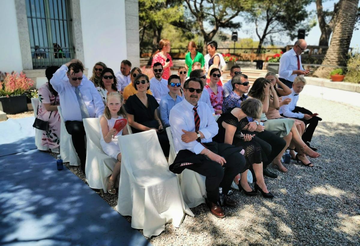 Brudens familie og venner