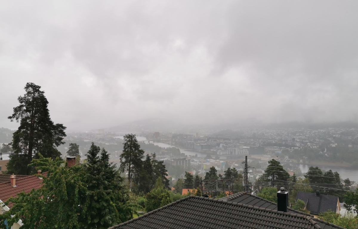 Pleier å se hele Drammen med min utsikt