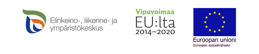Rahoittajat: Euroopan sosiaalirahasto ja Elinkeino-, liikenne- ja ympäristökeskus