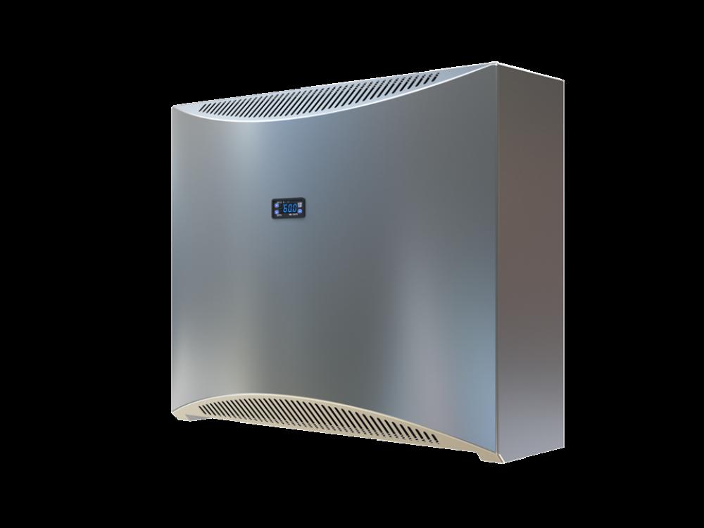 DRY 300 Metall - Edles Metallgehäuse. Eingebauter digitaler Hygrostat und Thermostat. Besonders leise. Hoher Wärmerückgewinn und geringe Leistungsaufnahme.