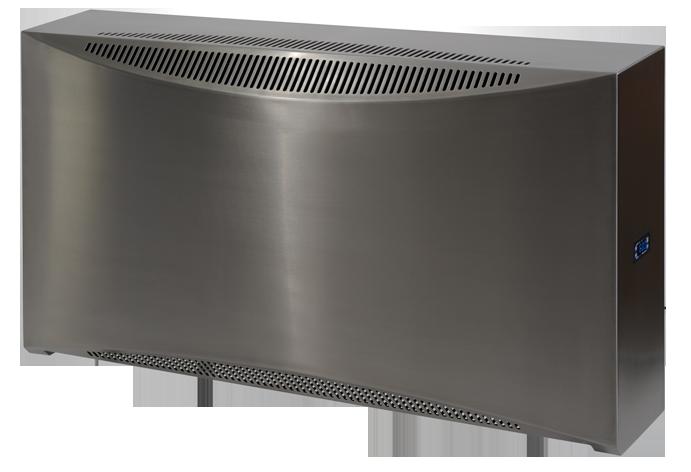 DRY 500 - Bild zeigt Wandgerät, auch als Hinterwandgerät erhältlichfür bis zu 60m² Pooloberflächeerhältlich in Kunststoff, Edelstahl und Metall