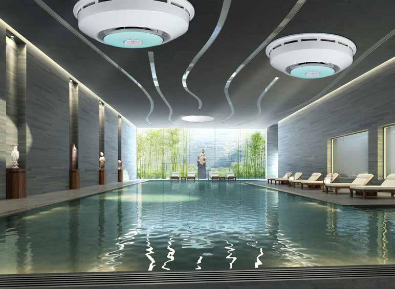 Einbau einer DRY SIREN LADY DUE für Bäder mit einer Poolgröße bis zu 120 m²