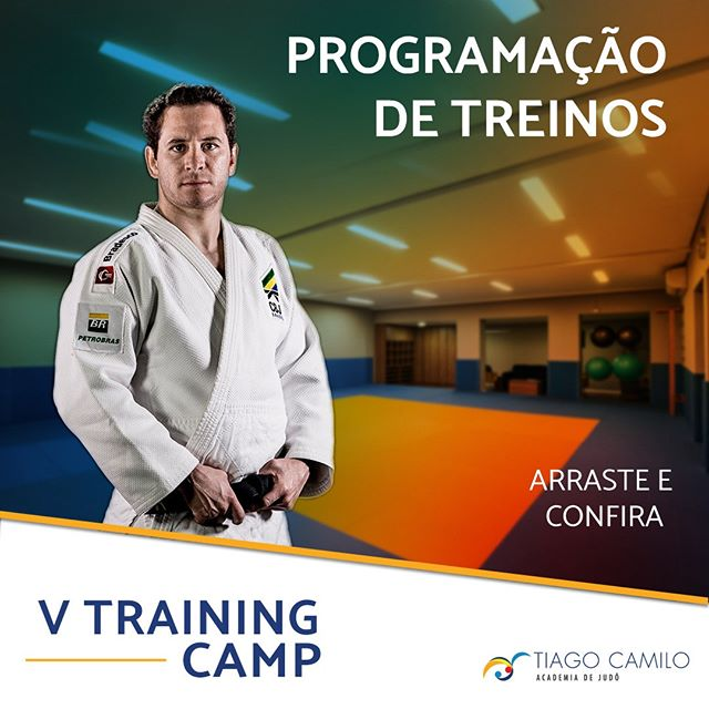 ARRASTE e confira a programação do nosso tradicional Training Camp, o quinto. Venha treinar ou traga seu filho para fazer parte de uma semana com a elite do Judô! www.tiagocamiloacademia.com.br/contato #paidejudoca  #judô #tiagocamilo #judoca #judo