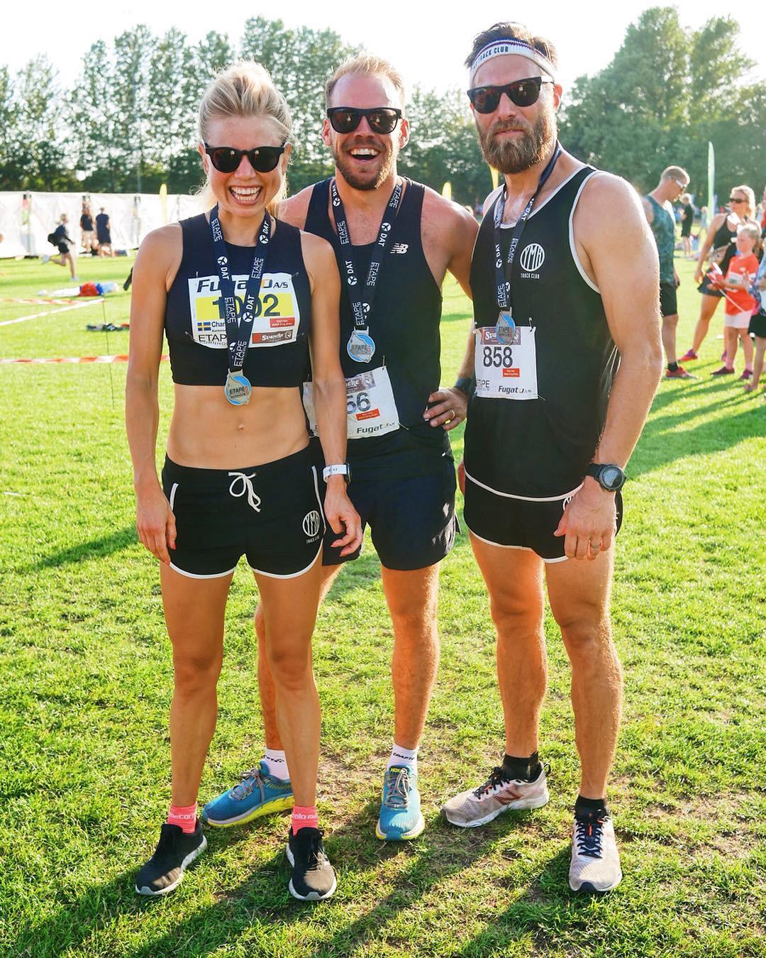 Tre snabba å nöjda löpare efter fem dagar med tävlingar!
