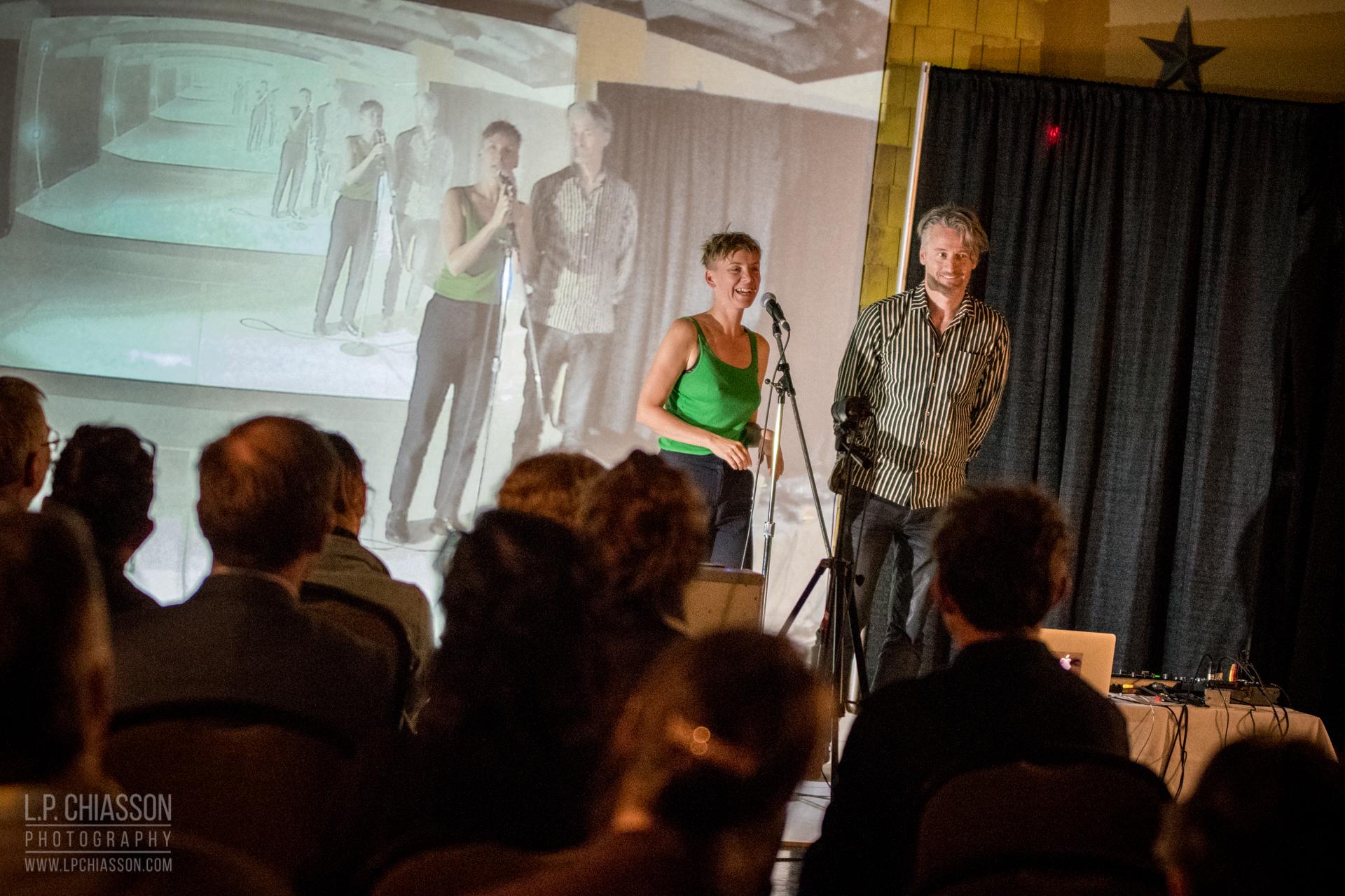 "Sarah Wendt et Pascal Dufaux, ""the work of the dancer: a short-term archival device,"" 2017. Performance et Installation. Photo: LP Chiasson & Festival Inspire."