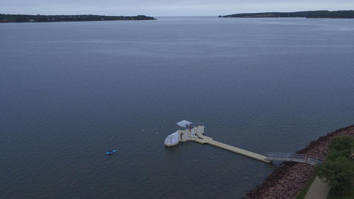 Photo: Floating Warren Pavilion.