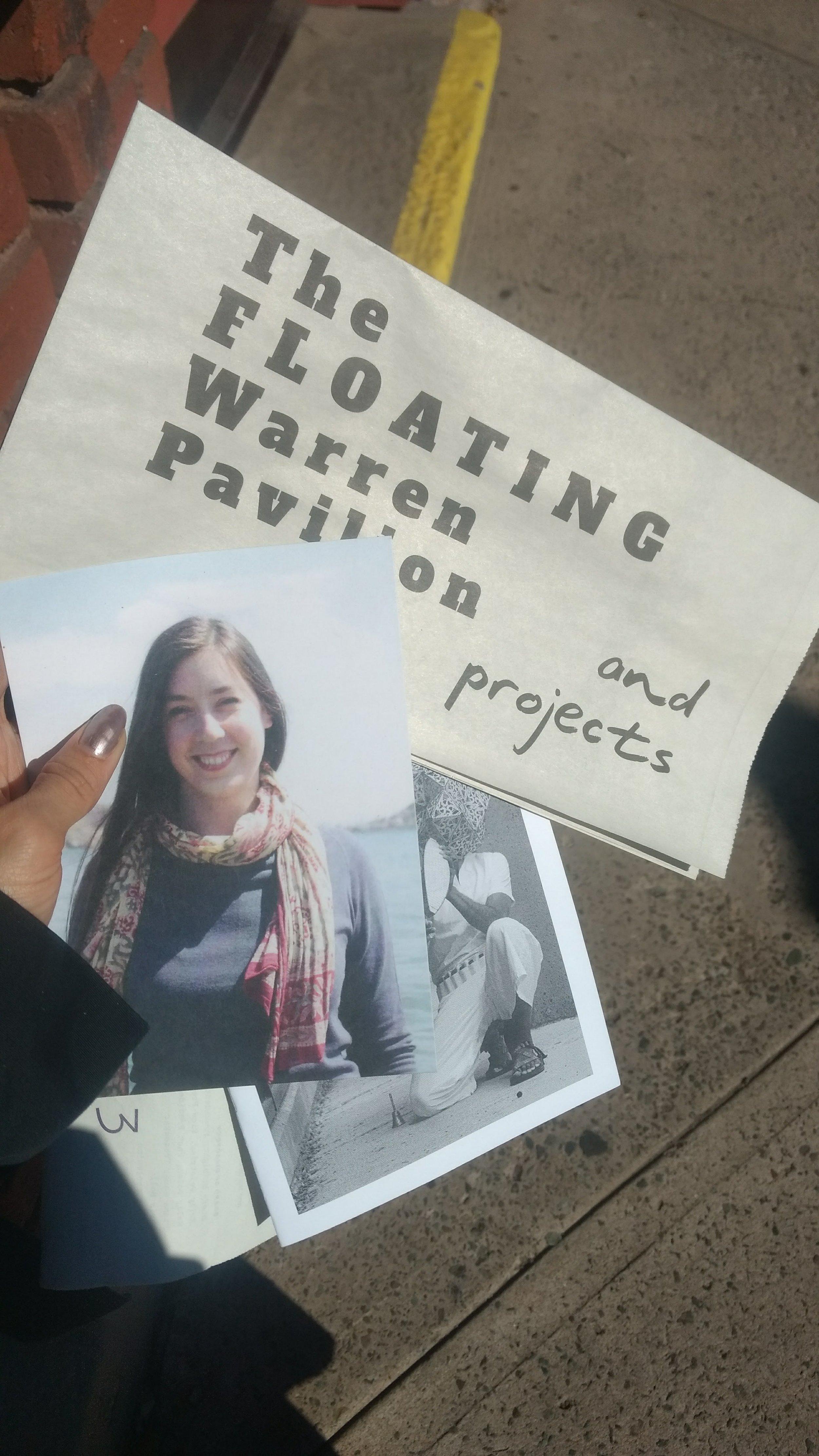Les matériaux imprimé distribués à Flottille comprenaient une dédicace à Mary MacDonald. Photo: Amanda Shore