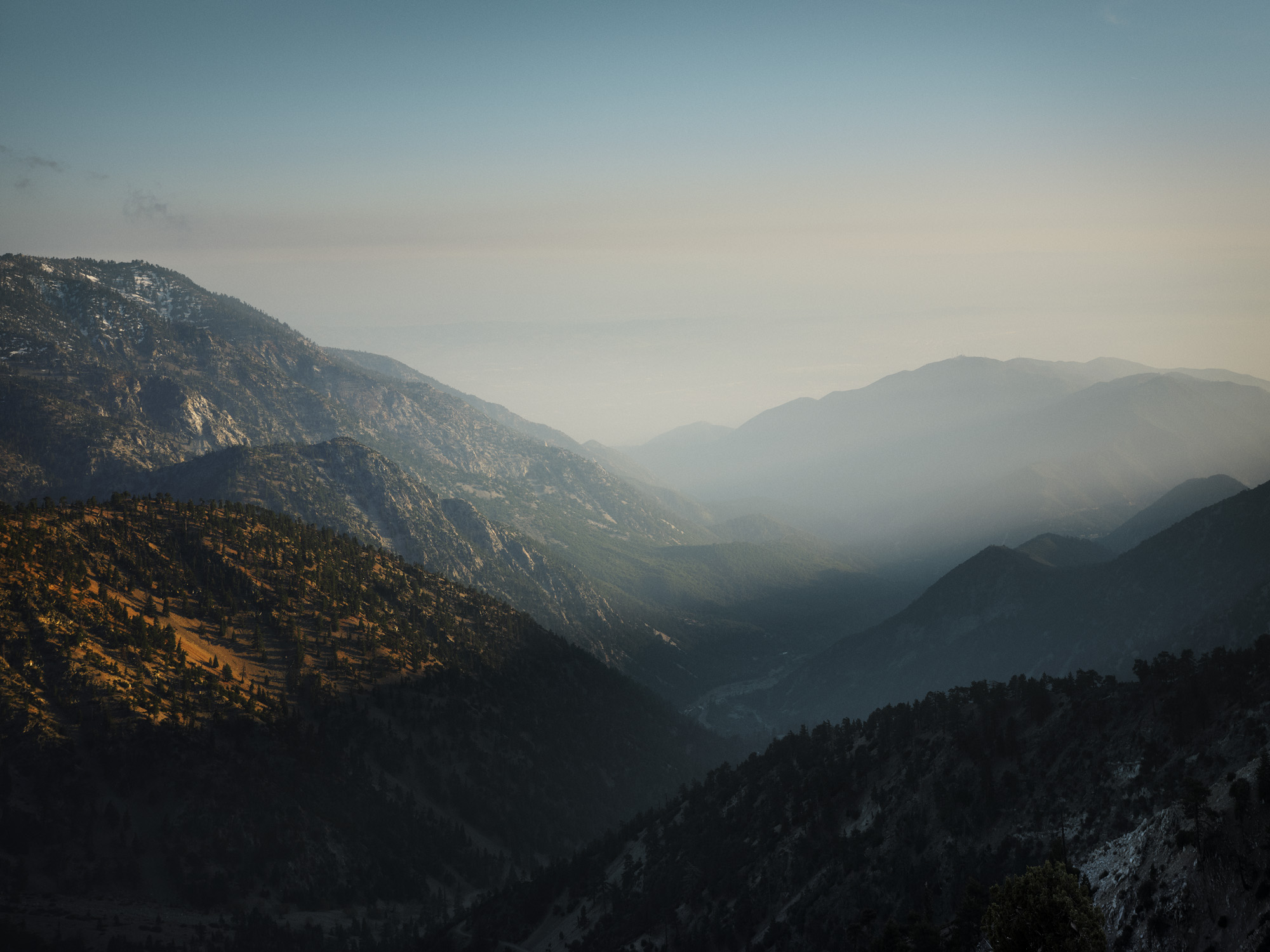 San Gabriel Mountains, just outside LA: In terms of photography, after a while of being somewhere, you really start to notice the intricacies of a place. You start to learn when is the best time to go and get the best light, you know what to look for and because you become confident, you know what interests you and what doesn't.