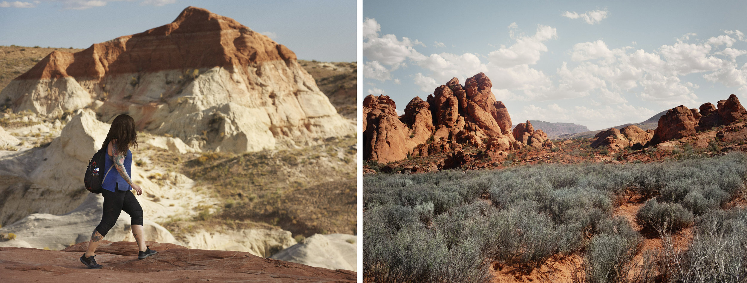 Left: Grand Staircase Escalante National Monument, Utah, Right: Red Cliffs National Conservation Area, Utah