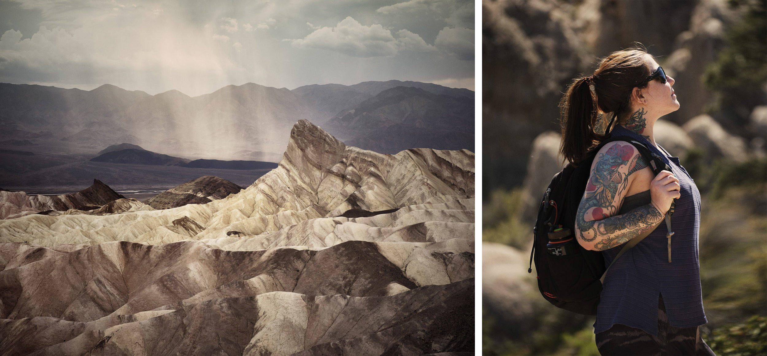 Left: Death Valley National Park, Right: San Gabriel Mountains