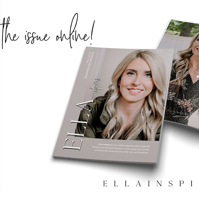 The newest edition of ELLA Inspires magazine is officially LIVE! We are an online magazine for #womeninbusiness. Each edition features a new inspiring #bossbabe. Read the magazine online, link in bio!