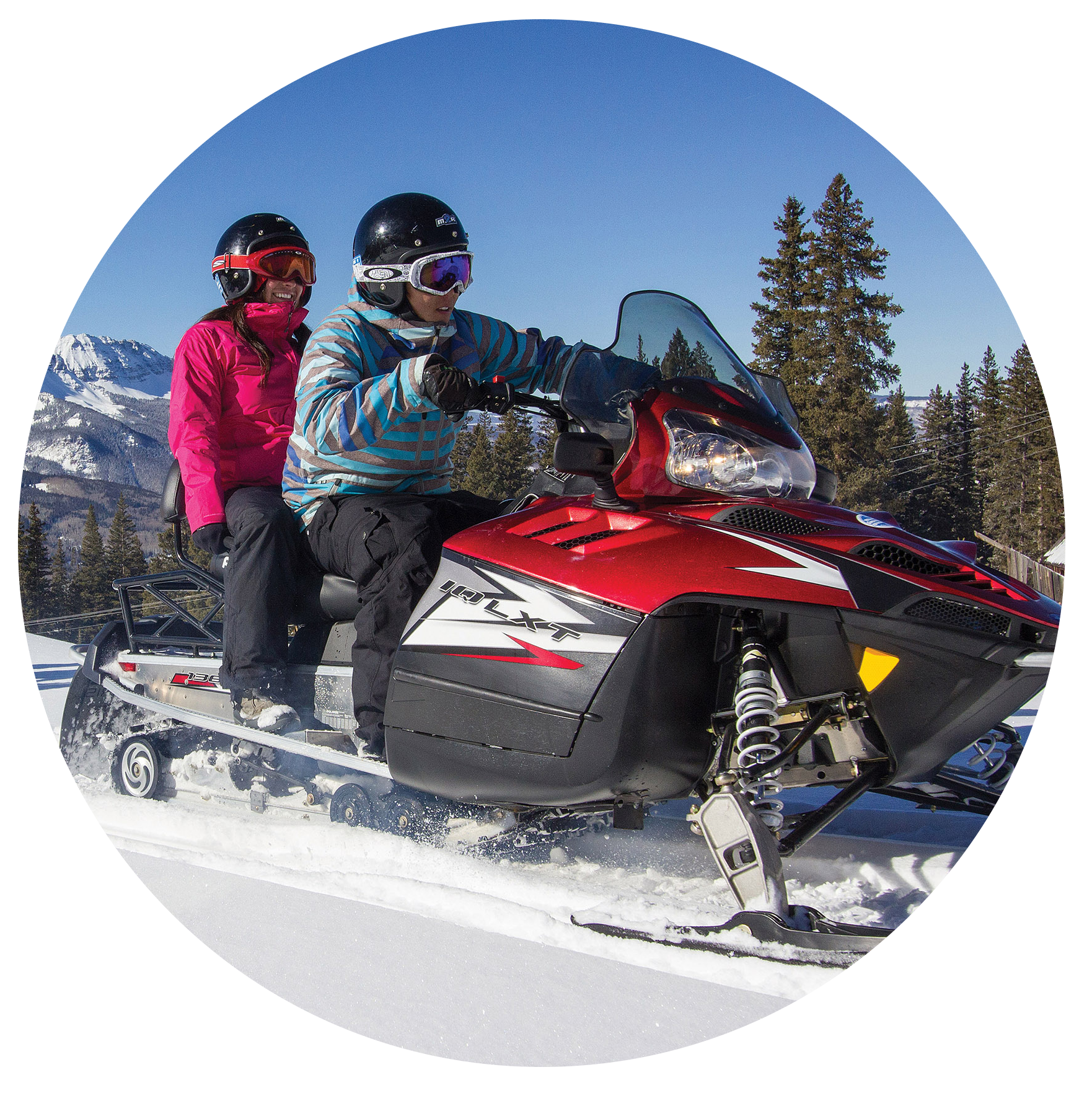 Double Rider for Snowmobile Tours