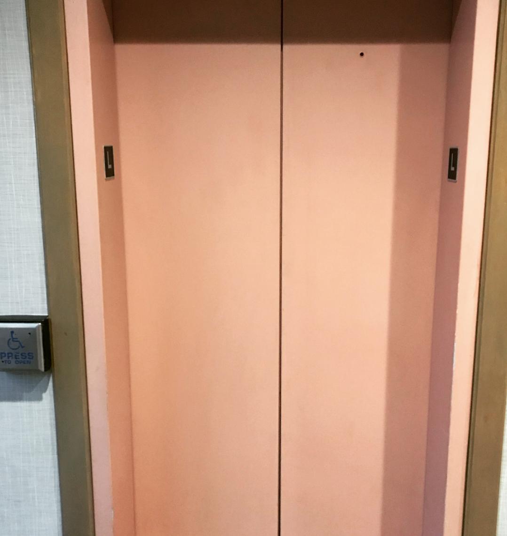 Elevator Door Wrap before