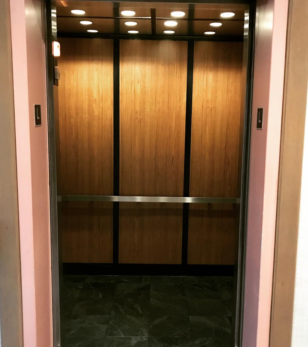 Elevator Cab Wrap before