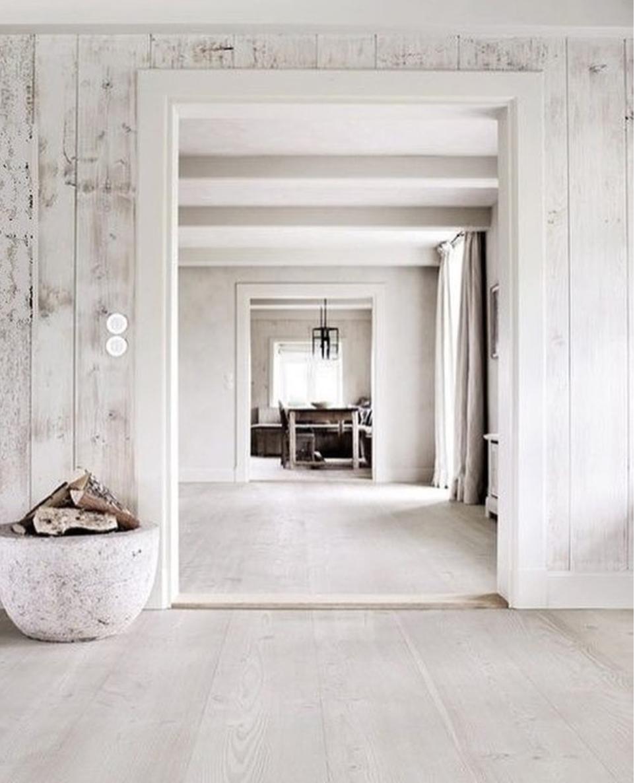 White wooden walls wrap