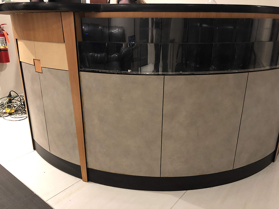 Reception Desk Wrap Las Vegas