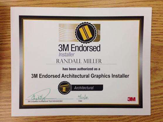 3M Certified installer
