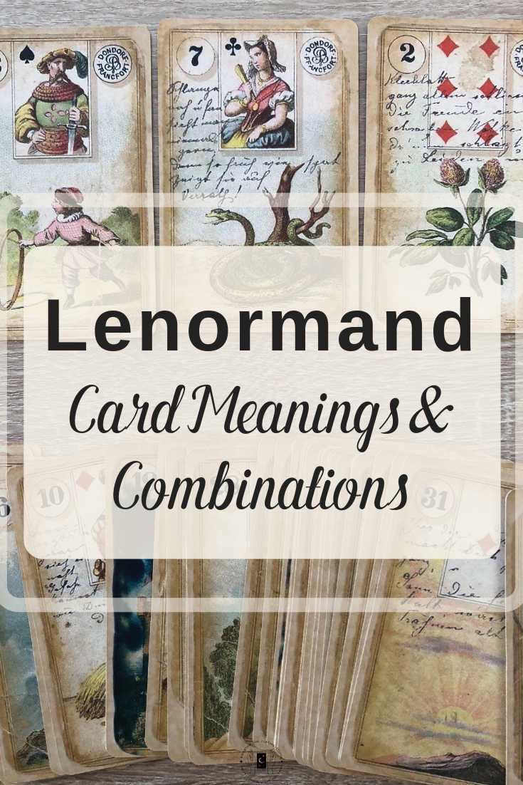 Want to know what all 36 Lenormand cards mean? Well, welcome to Read Lenormand's list of Lenormand fortune-telling card meanings and combinations! Below, you can find links to all of the Lenormand card meanings and combinations for divination on matters of love, career and more!