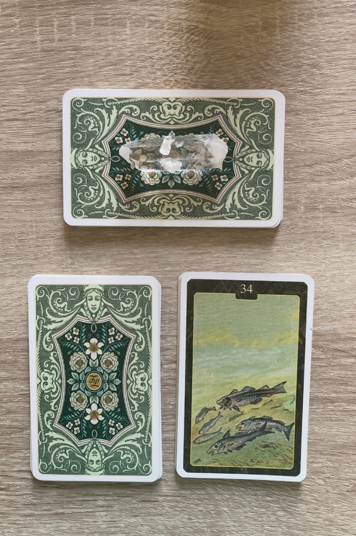 Lenormand Fish card meanings and interpretations. Learn how to read the Lenormand Fish card for general, love, business, money, health and other types of readings. In Lenormand decks, Fish is a card which represents money in relationships.