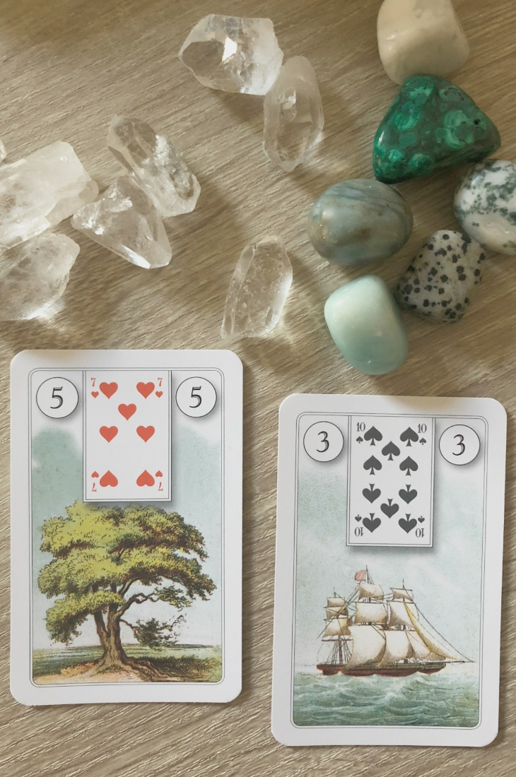 Lenormand Tree card combinations and interpretations. Learn how to combine the Lenormand Tree card for general, love, business, money, health and other types of readings. Here is how to combine house with Ship, Bear, Whip, Fish and other cards in your deck.