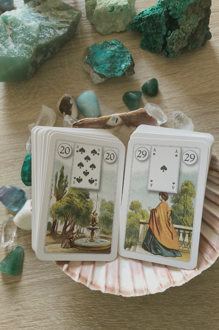 Lenormand Garden card combinations and interpretations. Learn how to combine the Lenormand Garden card for general, love, business, money, health and other types of readings. Here is how to combine Garden with Clover, Book, Tree, Bear and other cards in your deck.