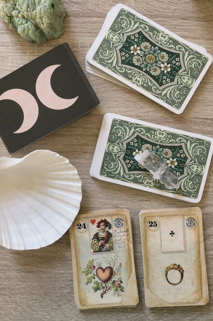 Lenormand Heart card combinations and interpretations. Learn how to combine the Lenormand Heart card for general, love, business, money, health and other types of readings. Here is how to combine Heart with Moon, Snake, Fox, Key and other cards in your deck.