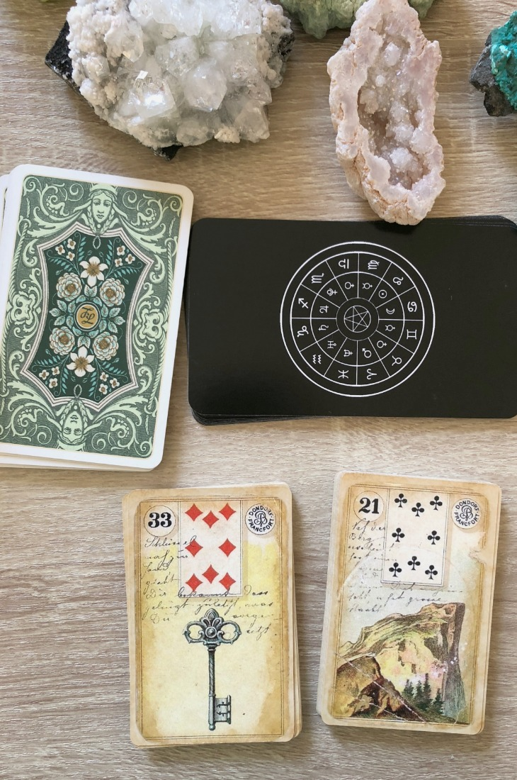 Lenormand Key card combinations and interpretations. Learn how to combine the Lenormand Key card for general, love, business, money, health and other types of readings. Here is how to combine Key with Anchor, Snake, Ship, Coffin and other cards in your deck.