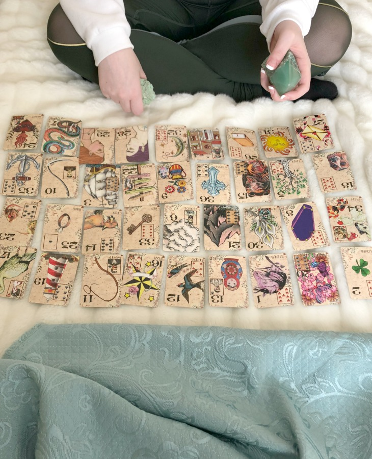 When performing a Lenormand spread, such as the Grand Tableau, you should only use 36 cards from your deck.
